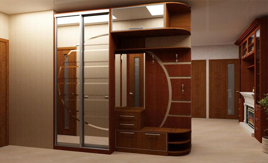 Дизайн шкафа купе в коридор фото