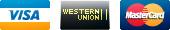 Visa, Western Union, Mastercard